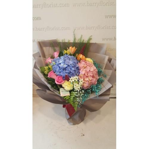 BOU 0152 繡球花2支+季節性配花