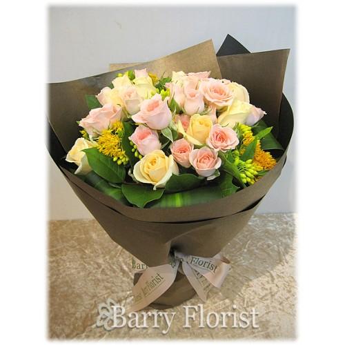 BOU 0070 20支A級混色玫瑰 + 季節性襯花
